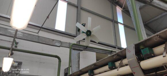 Ventilador de techo TOR para instalaciones ganaderas