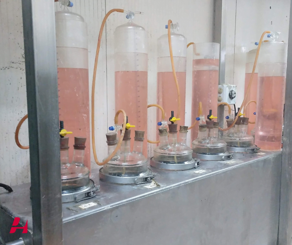 Planta piloto para calcular biogás